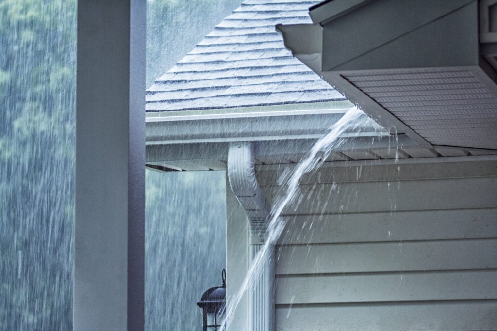 rainstorm representing how you can protect your AC from storms